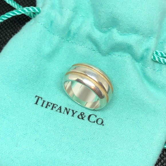 bc4424ee8 Vintage Tiffany Grooved Wide Band Ring. M_5c6ee081de6f62d8e87622b4